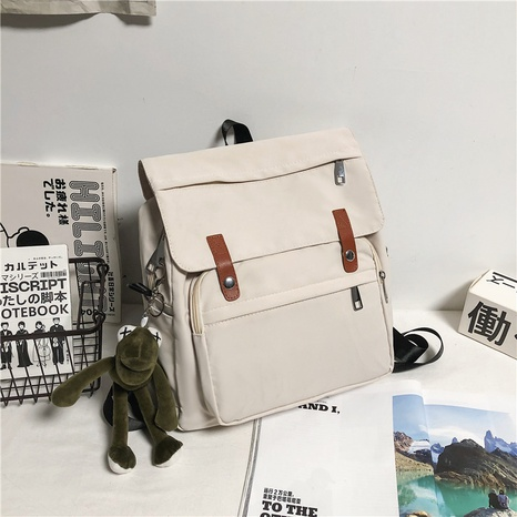 simple solid color large-capacity canvas backpack NHJZ354116's discount tags