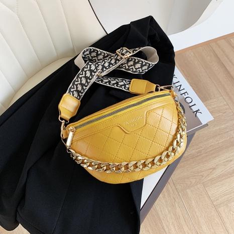bolso de la cintura de la cremallera del hilo del bordado del rombo de la moda NHJZ354164's discount tags