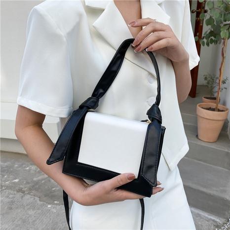 Mode Textur Kontrastfarbe Hasenohren Messenger Handtasche NHRU354210's discount tags