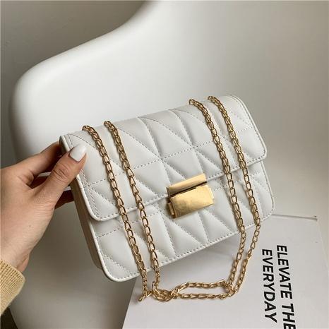 Kleine quadratische Tasche im koreanischen Stil lässig Schlosskette Messenger NHRU354212's discount tags