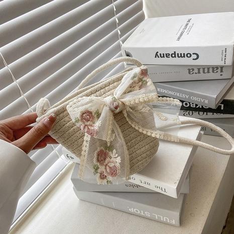 Mode gewebte Schleifen dekorieren One-Shoulder-Umhängetasche NHJZ354222's discount tags