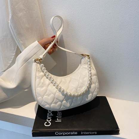 Modekette Perle Dekor Single Shoulder Umhängetasche NHJZ354229's discount tags