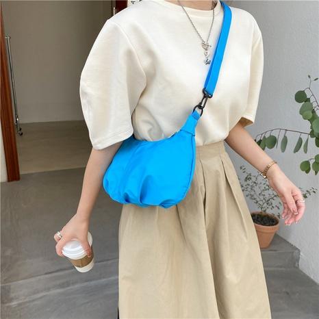 Mode einfarbige Falte Reißverschluss Wolkentasche NHXC354239's discount tags