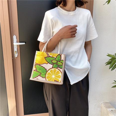 Mode Handtasche aus Baumwolle und Leinen mit großer Kapazität NHXC354243's discount tags