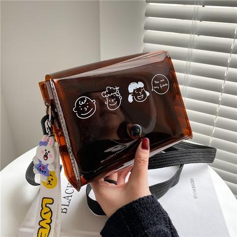Transparente Umhängetasche aus Kunststoff aus koreanischem Gelee NHXC354257's discount tags