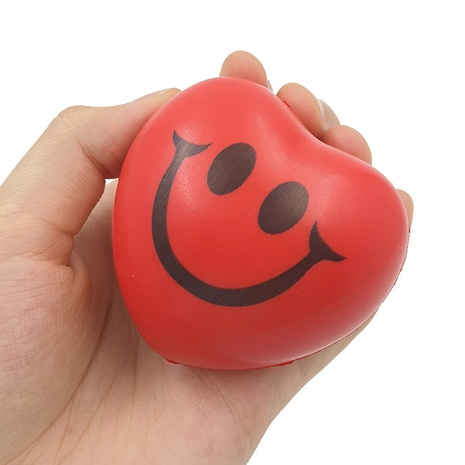 Red Heart Smiley PU Foam Love Decompression Vent Ball Toy Decompression Artifact Peach Heart Grip Power Ball Gift NHZHI354307's discount tags