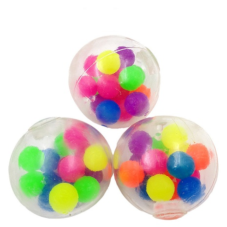 New pinch music color beads grape ball decompression vent toy novelty trick rainbow color ball NHZHI354311's discount tags