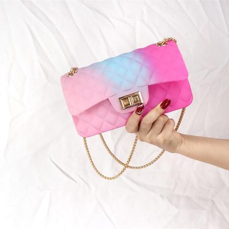 Modefarbe gefrostete Raute Kette Umhängetasche NHASB354397's discount tags