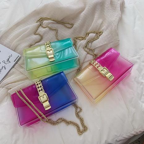 Mode transparente Süßigkeiten Farbe Kette Umhängetasche NHASB354398's discount tags