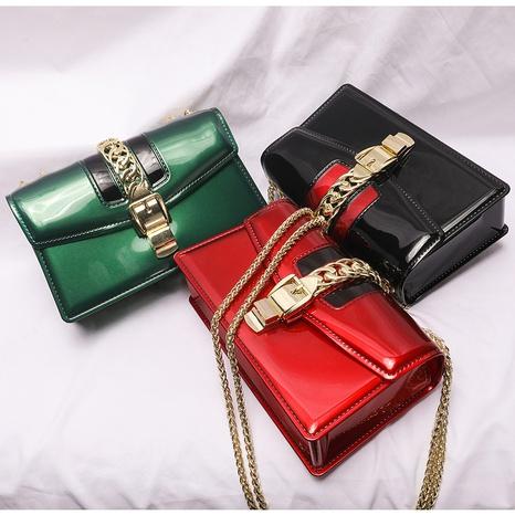 Korean contrast color metal buckle messenger bag  NHASB354400's discount tags