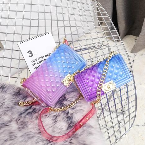 fashion gradient color shoulder messenger small square bag  NHASB354401's discount tags