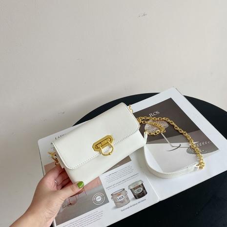 Mode einfarbig Metall Schnalle Kette Messenger kleine quadratische Tasche NHASB354403's discount tags