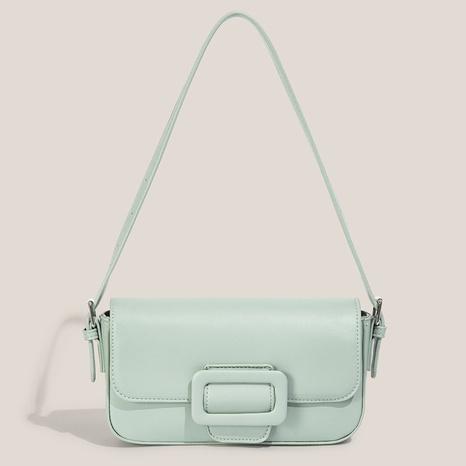 Großhandel Mode einfarbige One-Shoulder-Achsel-Tasche NHASB354405's discount tags