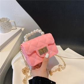casual pearl chain shoulder messenger mini bag NHXC354422