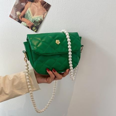 Koreanische Perlenkette Metall Blumenschnalle Messenger Taschen NHXC354500's discount tags