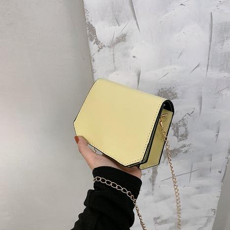 einfache einfarbige Metallkette Messenger kleine quadratische Tasche NHXC354514's discount tags