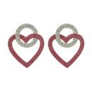 fashion new style exaggerated heartshaped alloy full rhinestone earrings NHLN355467