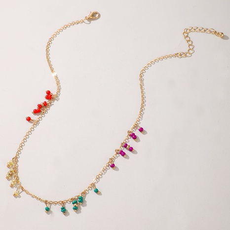 new bohemian ethnic style color beads simple alloy necklace NHGY354707's discount tags