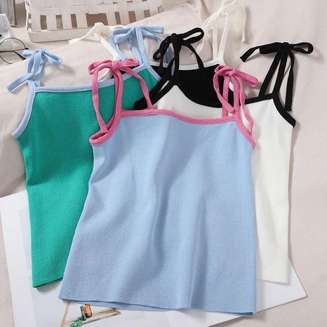 Camisole en maille taille courte douce en dentelle à la mode NHZN354660's discount tags