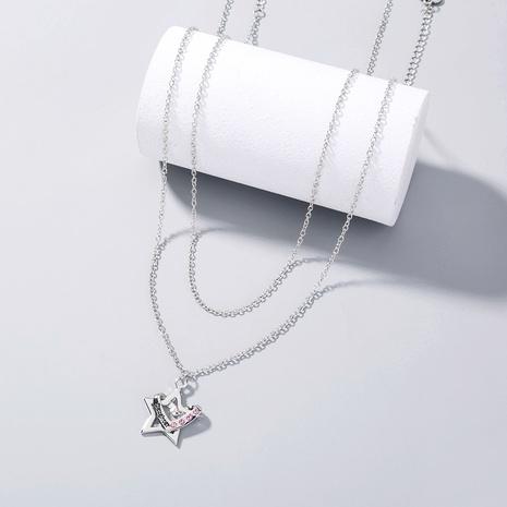 collar con colgante de corazón con letras de estrella de cinco puntas de moda NHAN354853's discount tags
