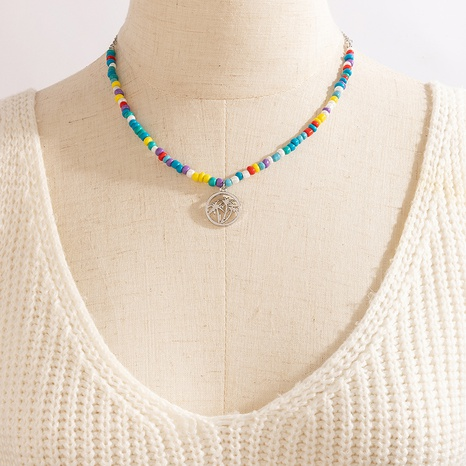new style bohemian fashion colorful rice bead women's necklace NHGY355451's discount tags