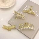 korean fashion style rhinestone pearl shark clip  NHWB354884