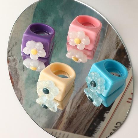 anillo de resina de flor de moda al por mayor NHNZ354898's discount tags