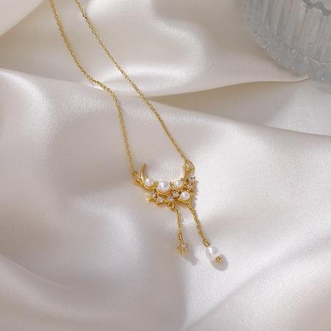 collar de borla de luna estrella de moda al por mayor NHMS354999's discount tags