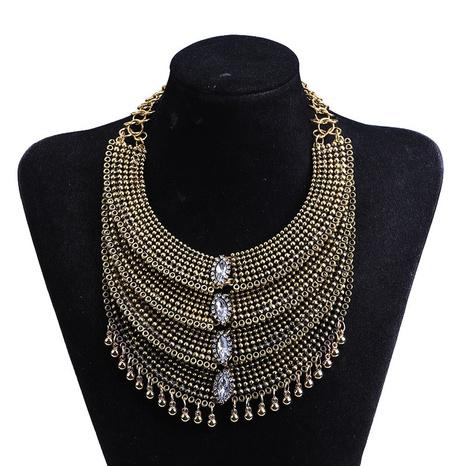 collar de múltiples capas de borla de cuentas huecas de moda NHYAO355030's discount tags