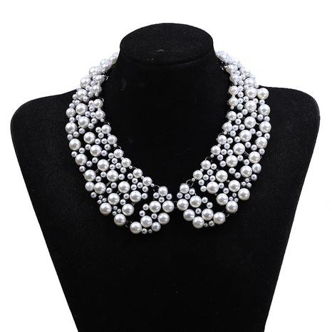 fashion hollow pearl chain multi-layer necklace  NHYAO355031's discount tags