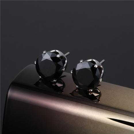 Boucles d'oreilles à six griffes en cristal en acier inoxydable à la mode NHAC355033's discount tags