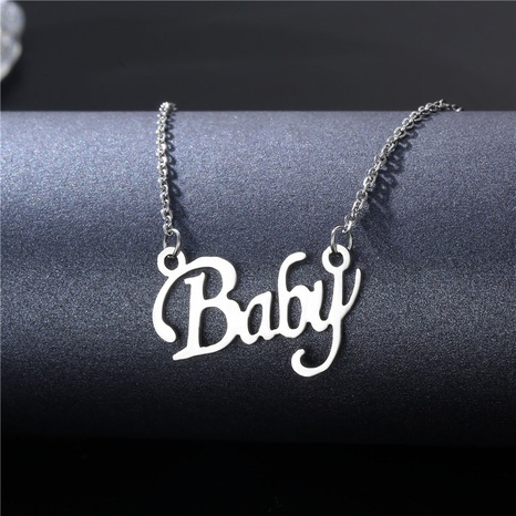 fashion glossy letter pendent necklace wholesale  NHAC355041's discount tags
