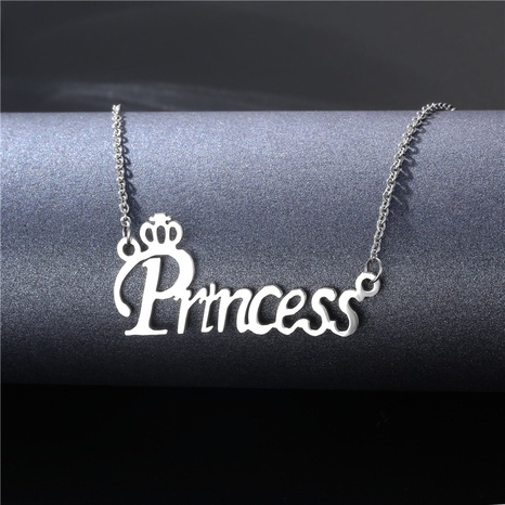 fashion stainless steel letter pendent clavicle chain  NHAC355042's discount tags