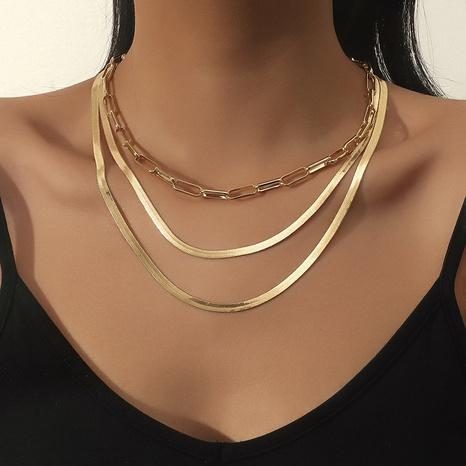 collar de múltiples capas de aleación de cadena plana de moda NHBD355048's discount tags