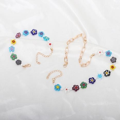 conjunto de combinación de pulsera de collar de flor de color de moda NHRN355058's discount tags