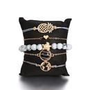 pineapple heart map sea turtle blue bead turquoise bracelet 5piece set NHMO355111