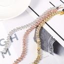 simple crystal multicolor full diamond heart snake bone chain bracelet NHMO355122