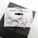 Bohemian style retro Cshape alloy plating earrings sevenpiece set NHMO355135