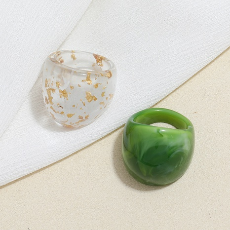 nuevo anillo de acrílico transparente exagerado retro NHMO355143's discount tags
