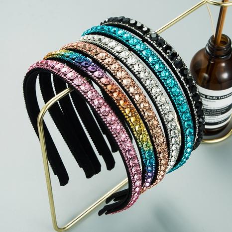 koreanische Mode einfache Farbe Strass Stirnband NHLN355150's discount tags