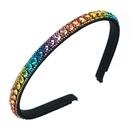 korean fashion simple color rhinestone headband  NHLN355150