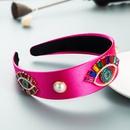 fashion style baroque exaggerated Demons eye color rhinestone pearl headband NHLN355151