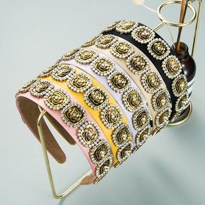 Einfaches Stirnband aus Diamantblumen mit Barockstil und Diamantbesatz NHLN355169
