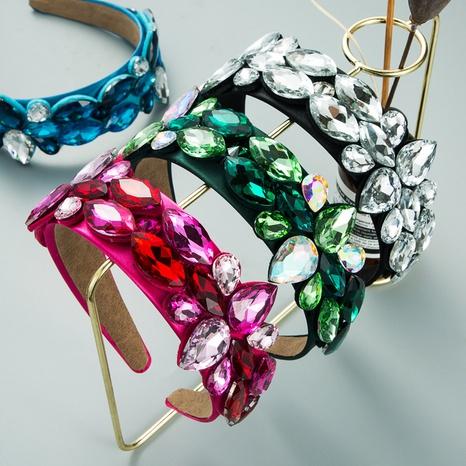 Kreatives tropfenförmiges Glasdiamant-Stirnband im Barockstil NHLN355173's discount tags