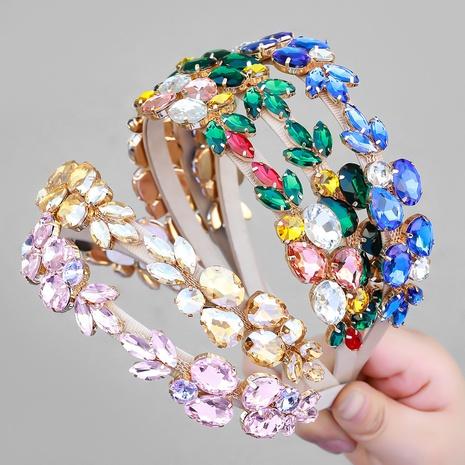 Mode Super Flash Glas Diamant Strass Blumen Stirnband NHJE355192's discount tags