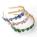 Fashion Super Flash Glass Diamond Rhinestone Flower Headband NHJE355192