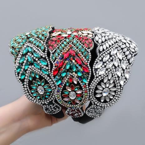 neue Mode Stil Diamant Strass geometrische Blume Stirnband NHJE355195's discount tags