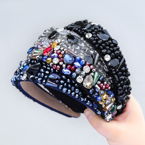 neues, mit Diamanten besetztes Acryl-Stirnband im Modestil NHJE355199's discount tags