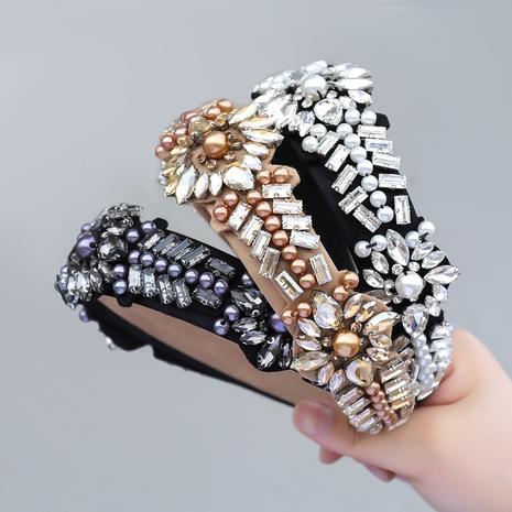 koreanische Mode neue Diamant eingelegte Perle Blume Stirnband NHJE355201's discount tags