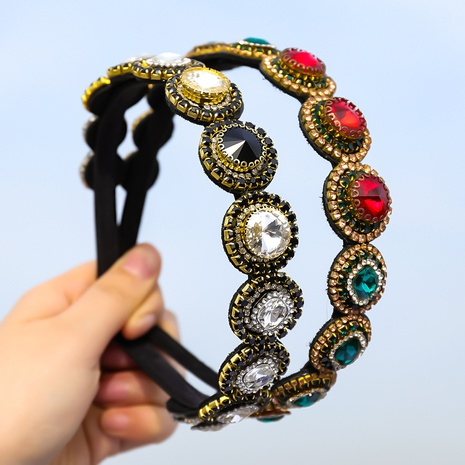 neues mehrschichtiges geometrisches Stirnband aus Flanelldiamant im koreanischen Modestil NHJE355204's discount tags